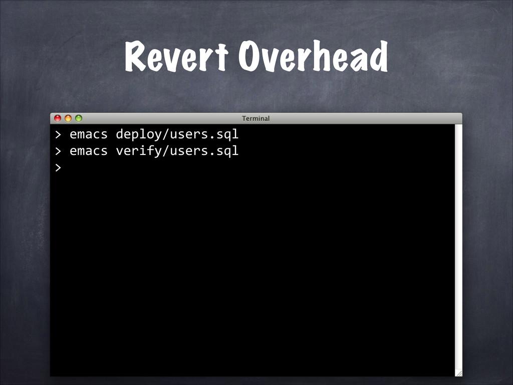 Revert Overhead > emacs deploy/users.sql...