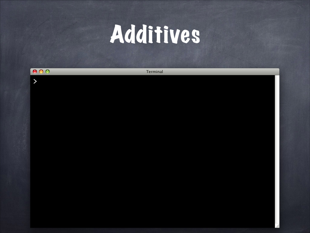 Additives >