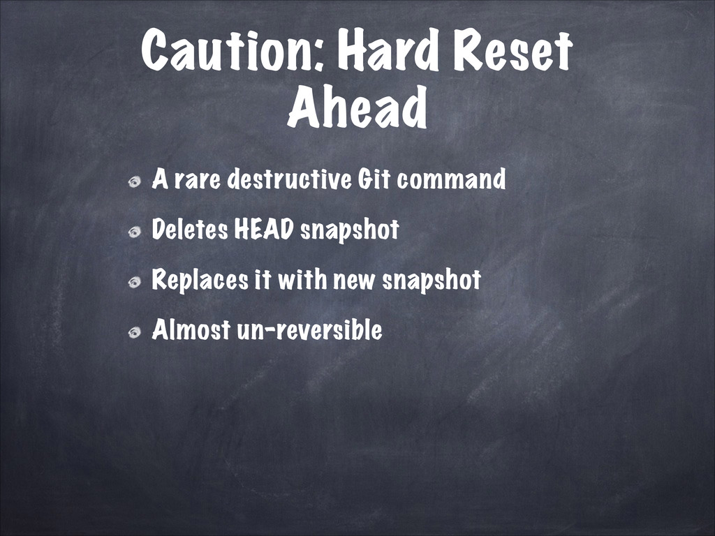 Caution: Hard Reset Ahead A rare destructive Gi...