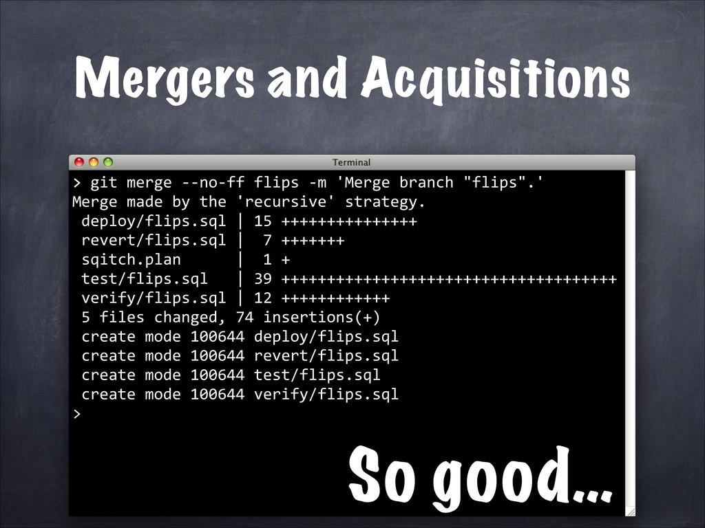 > git merge -‐-‐no-‐ff flips ...