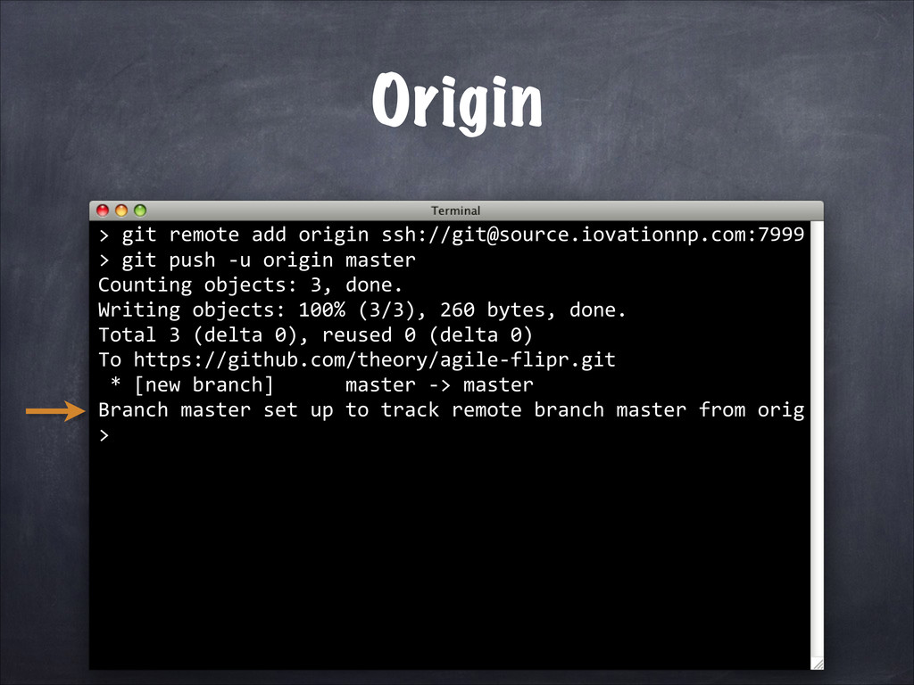 git push -­‐u origin master Counting objects: 3...