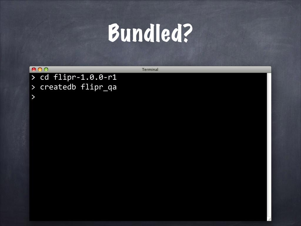 createdb flipr_qa  > > cd f...