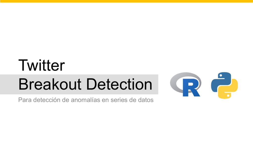 Twitter Breakout Detection Para detección de an...