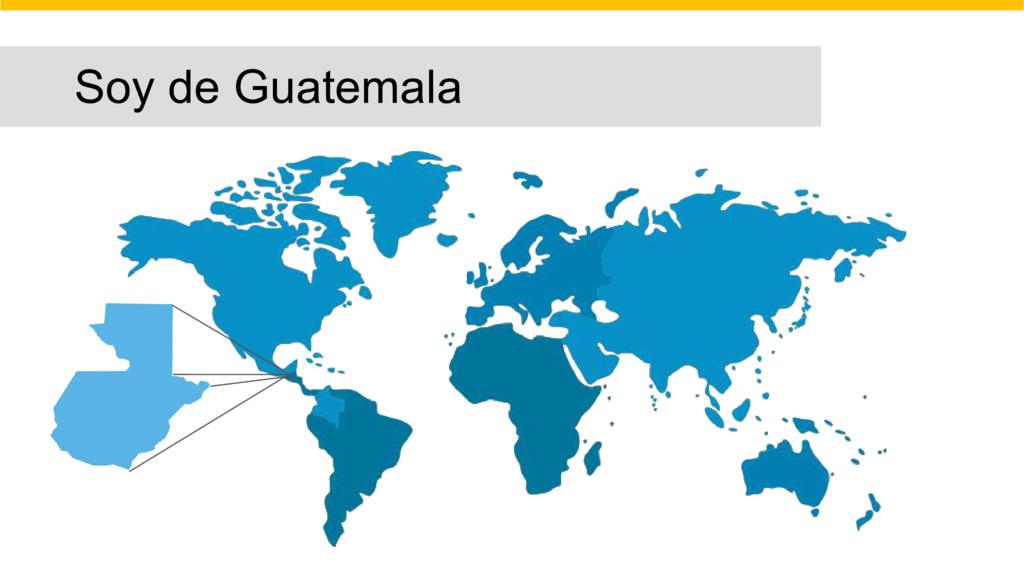 Soy de Guatemala
