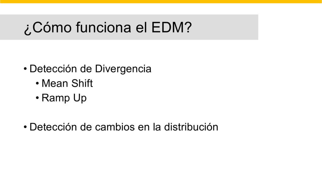 ¿Cómo funciona el EDM? • Detección de Divergenc...
