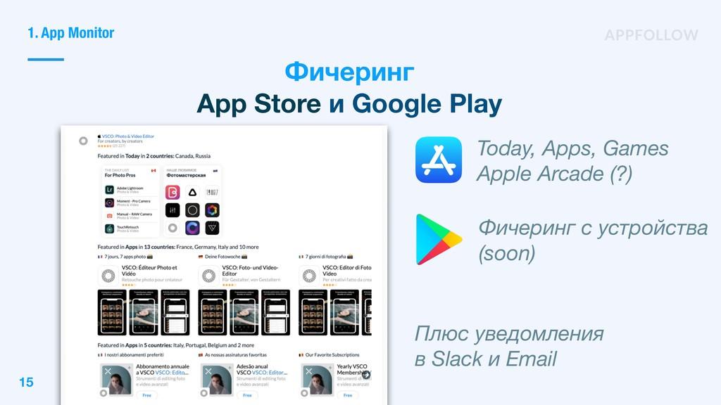 Фичеринг App Store и Google Play Today, Apps, G...