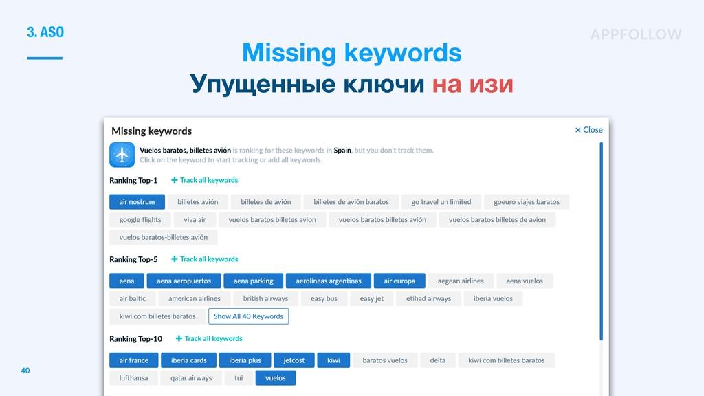 Missing keywords Упущенные ключи на изи 3. ASO ...