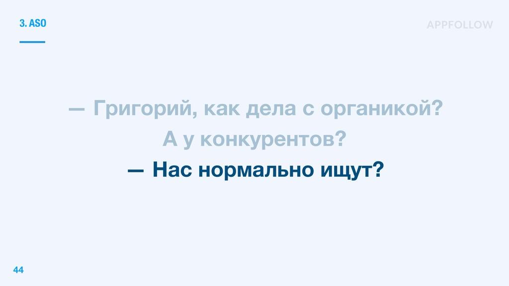 — Григорий, как дела с органикой? А у конкурент...
