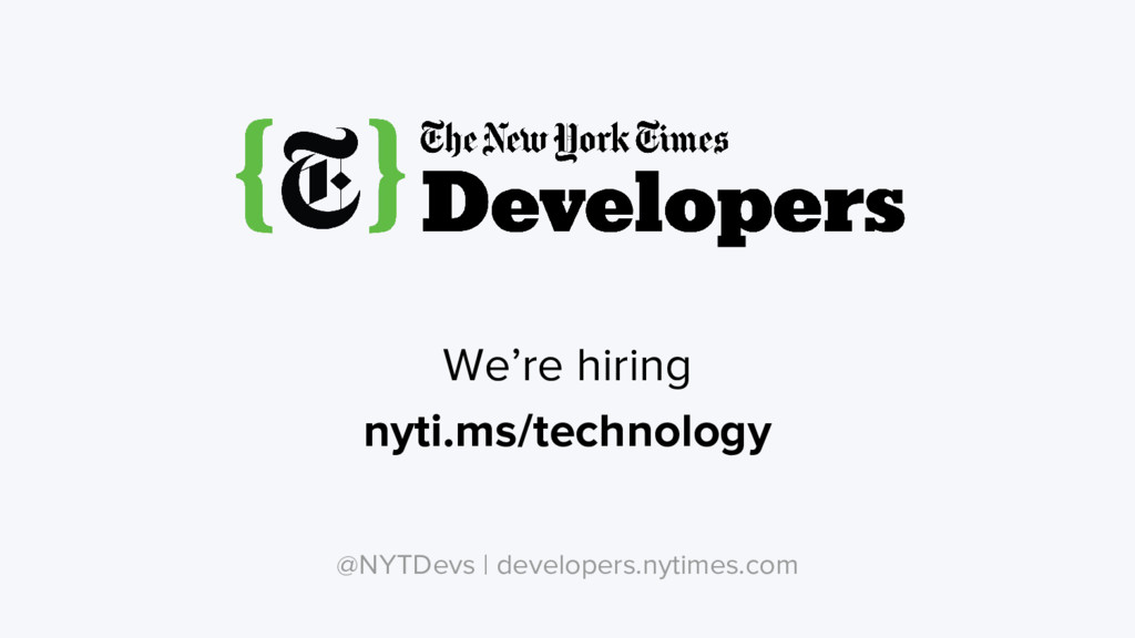We're hiring nyti.ms/technology @NYTDevs | deve...