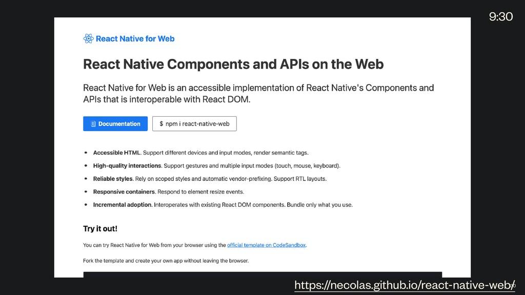 https://necolas.github.io/react-native-web/ 30 ...