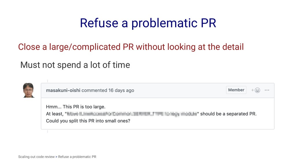 Refuse a problematic PR Close a large/complicat...