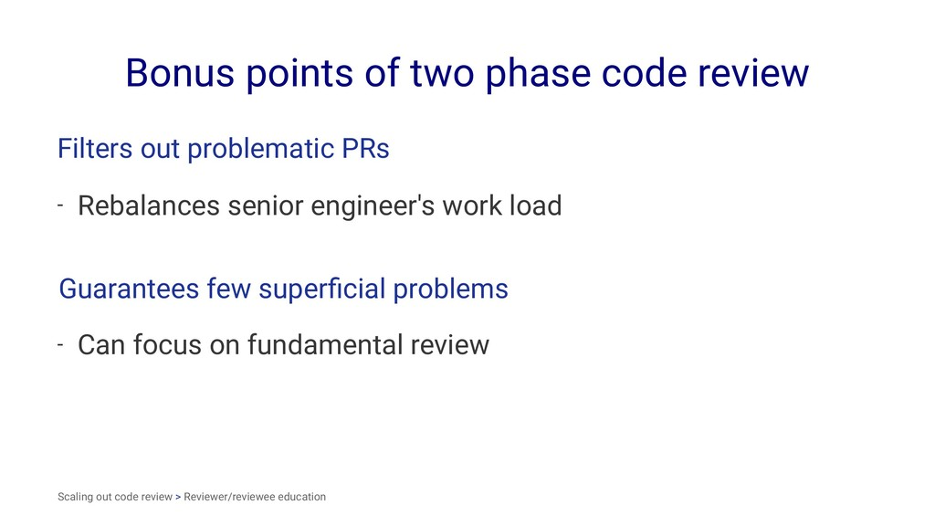 Bonus points of two phase code review Filters o...