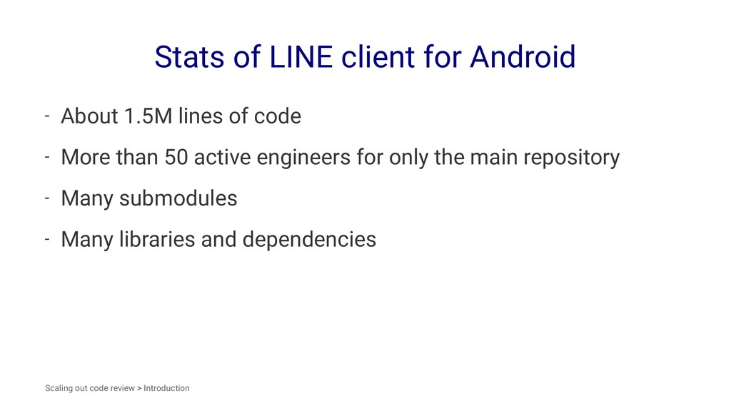 Stats of LINE client for Android - About 1.5M l...