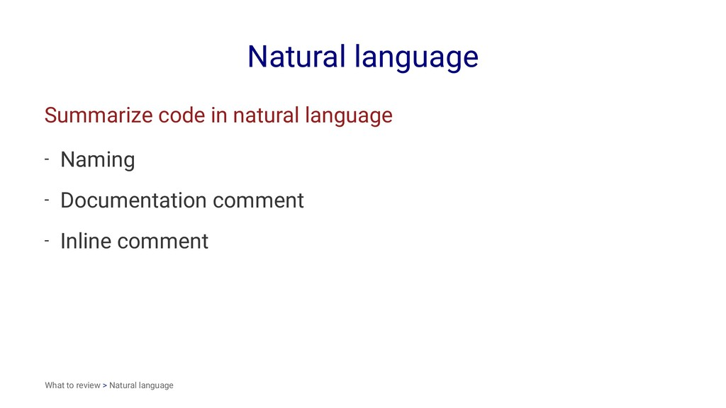 Natural language Summarize code in natural lang...