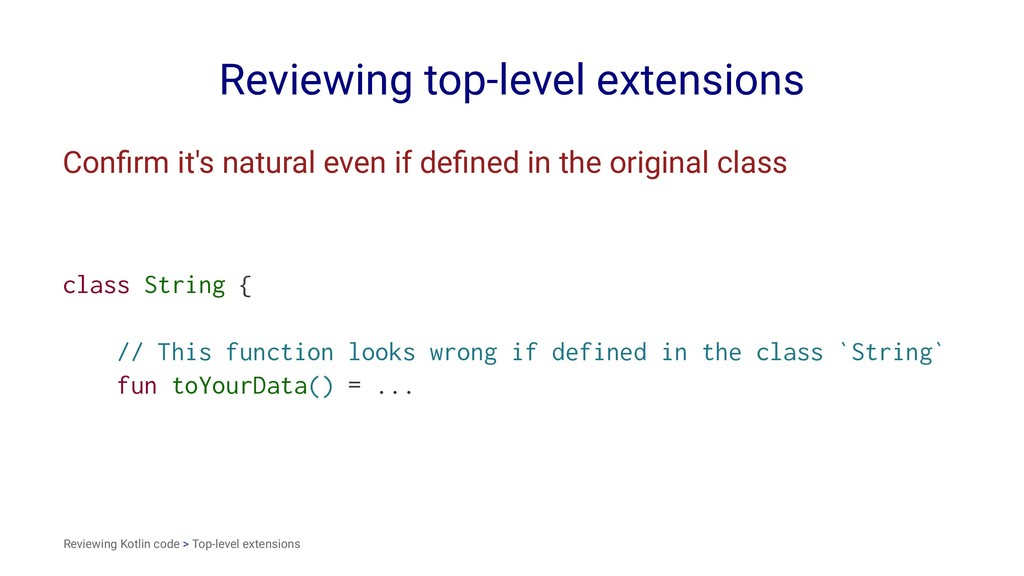Reviewing top-level extensions Confirm it's natu...