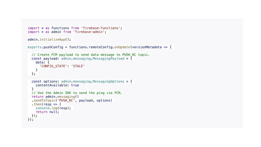import * as functions from 'firebase-functions'...