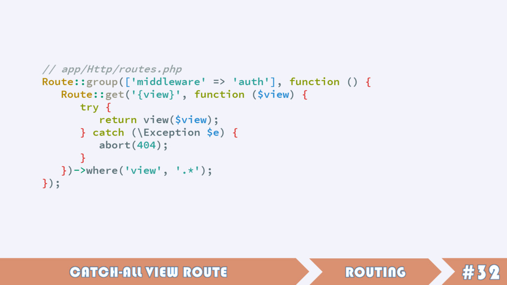 // app/Http/routes.php Route::group(['middlewar...