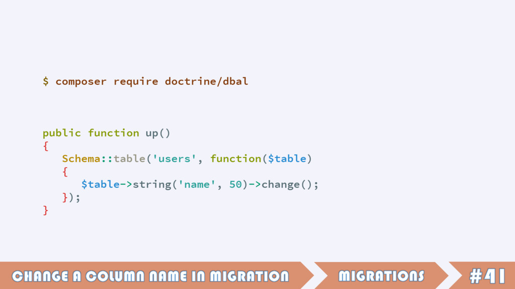 public function up() { Schema::table('users', f...