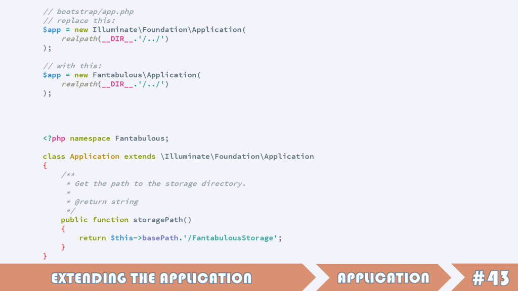 // bootstrap/app.php // replace this: $app = ne...