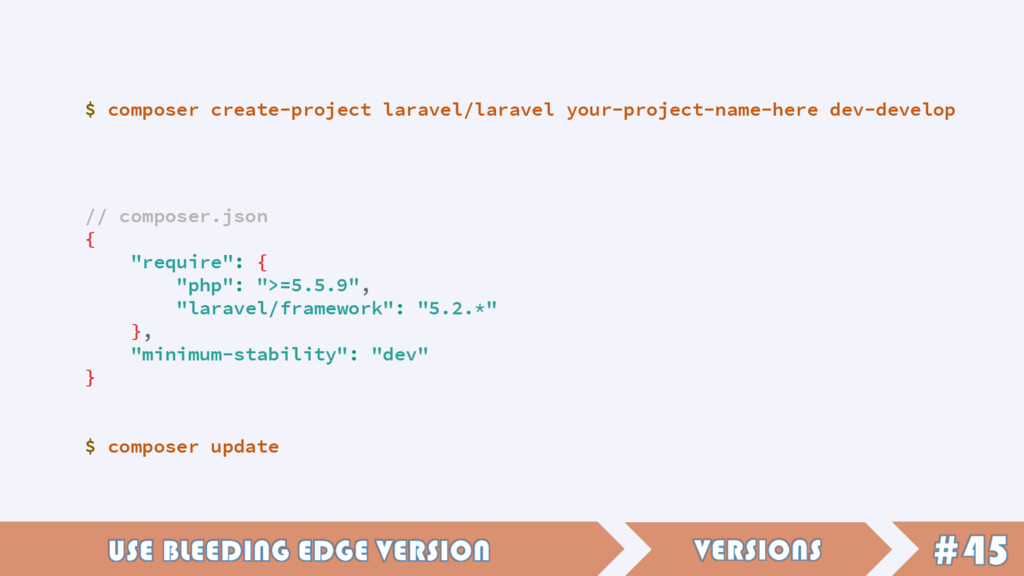 $ composer create-project laravel/laravel your-...