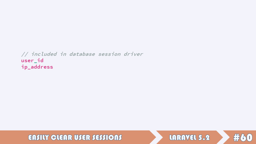// included in database session driver user_id ...