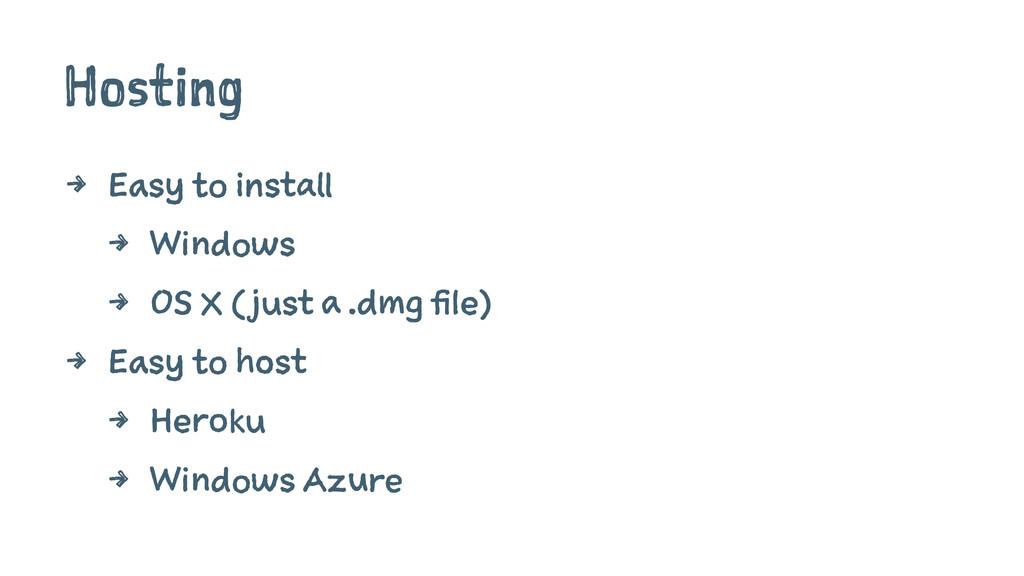 Hosting 4 Easy to install 4 Windows 4 OS X (jus...