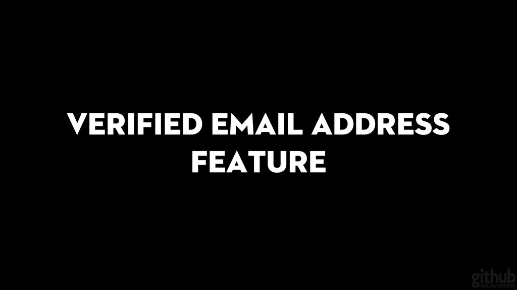 Verified email address feature