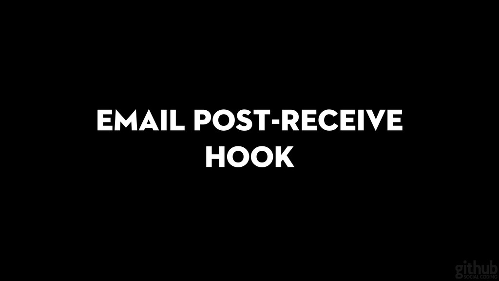 Email post-receive hook