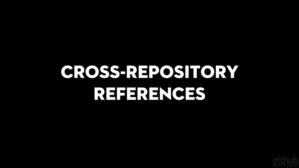 Cross-repository references