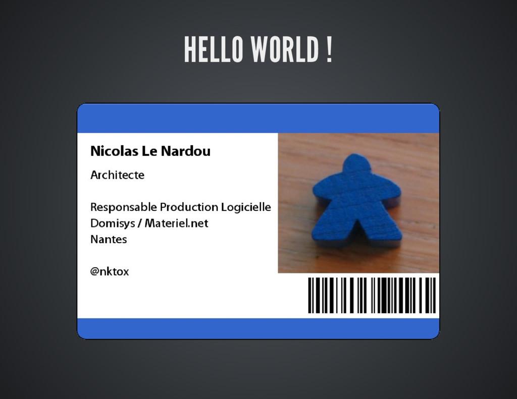 HELLO WORLD !
