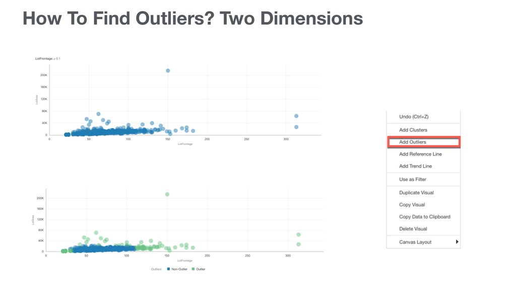 How To Find Outliers? Two Dimensions