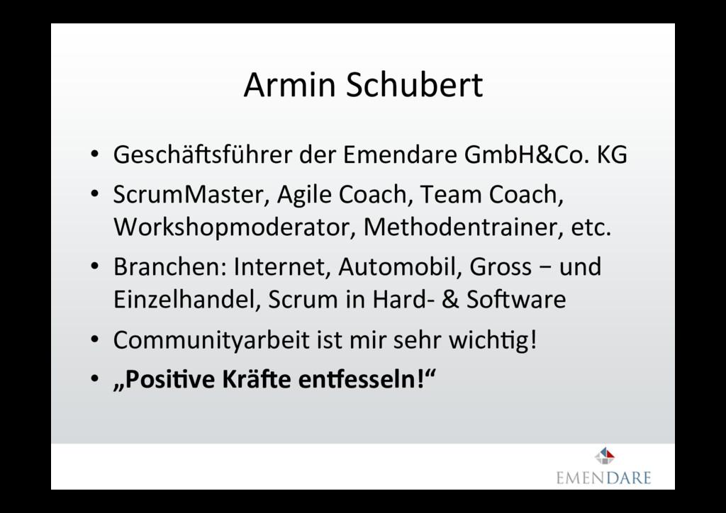 Armin Schubert • GeschäTsführer der Emendare G...
