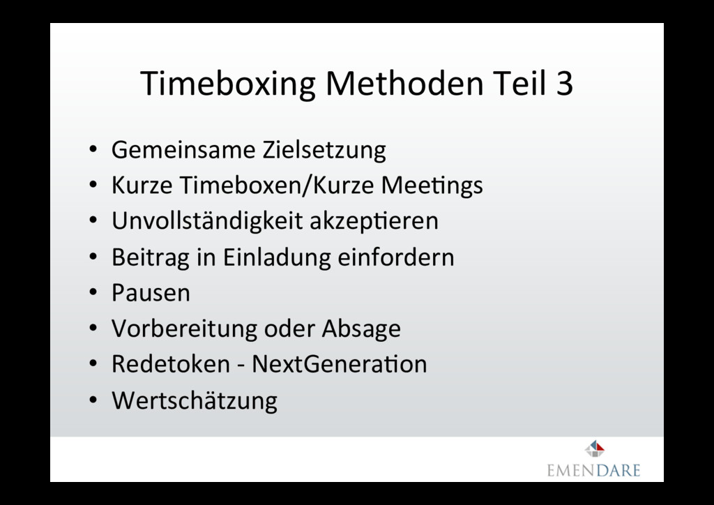 Timeboxing Methoden Teil 3 • Gemeinsame Zielse...