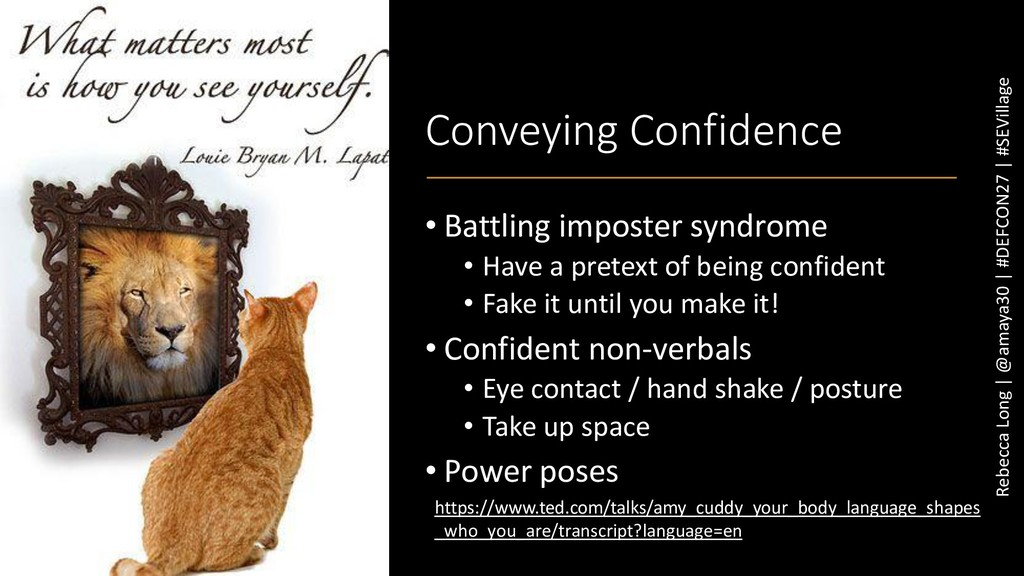 Conveying Confidence • Battling imposter syndro...