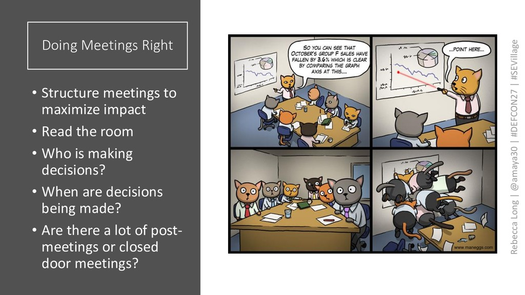 Doing Meetings Right • Structure meetings to ma...