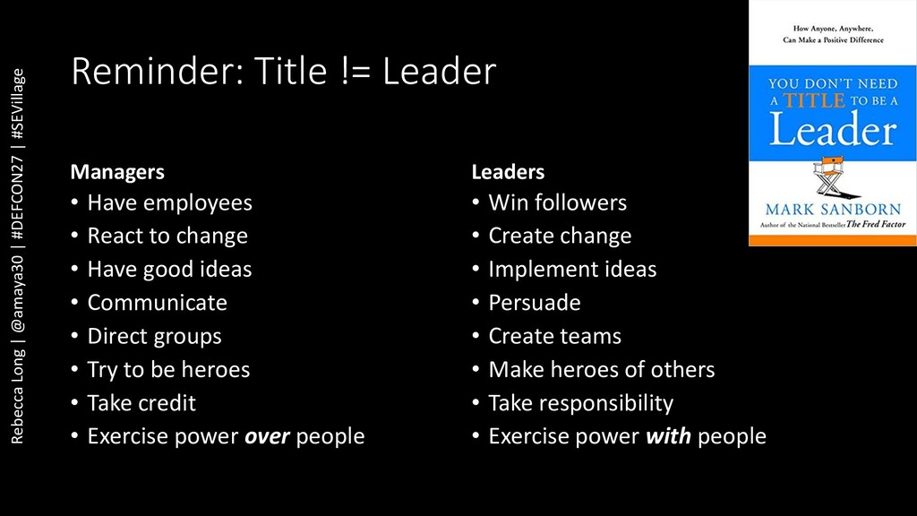 Reminder: Title != Leader Managers • Have emplo...