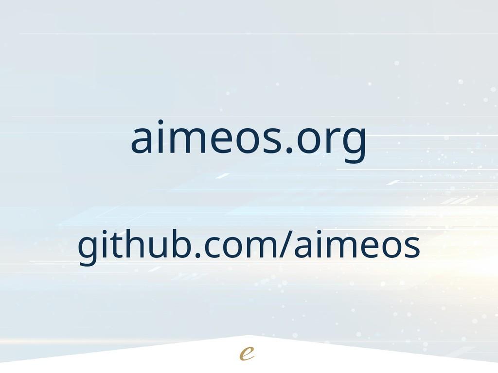 aimeos.org github.com/aimeos