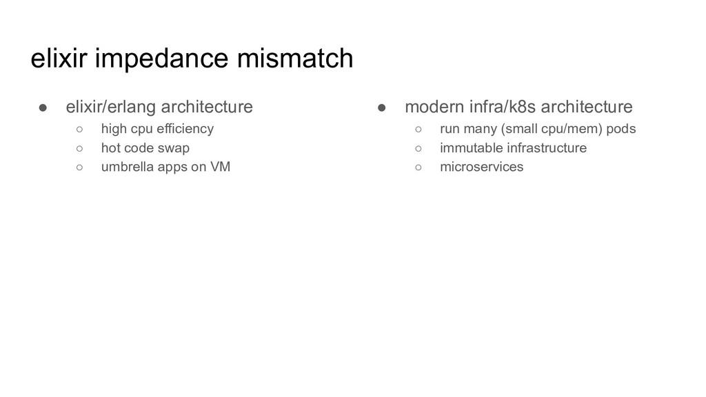 elixir impedance mismatch ● elixir/erlang archi...