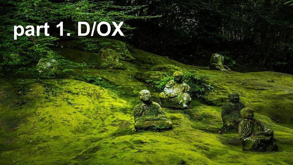part 1. D/OX