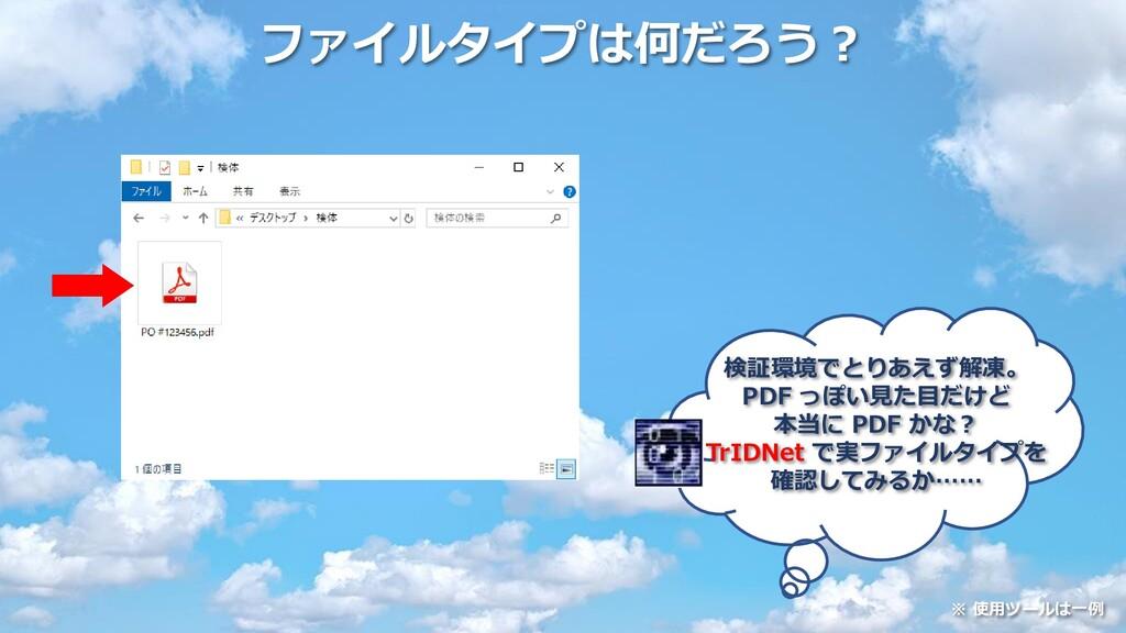 ファイルタイプは何だろう? 検証環境でとりあえず解凍。 PDF っぽい見た目だけど 本当に P...