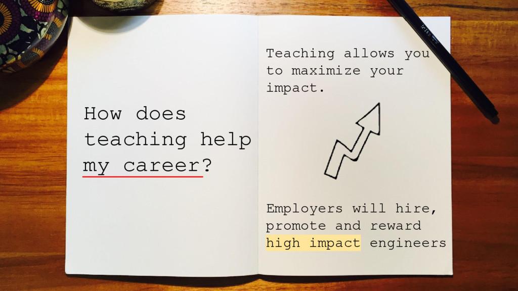 How does teaching help my career? Teaching allo...