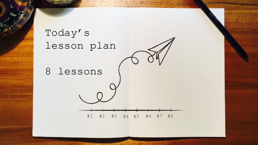 Today's lesson plan 8 lessons #1 #2 #3 #4 #5 #6...