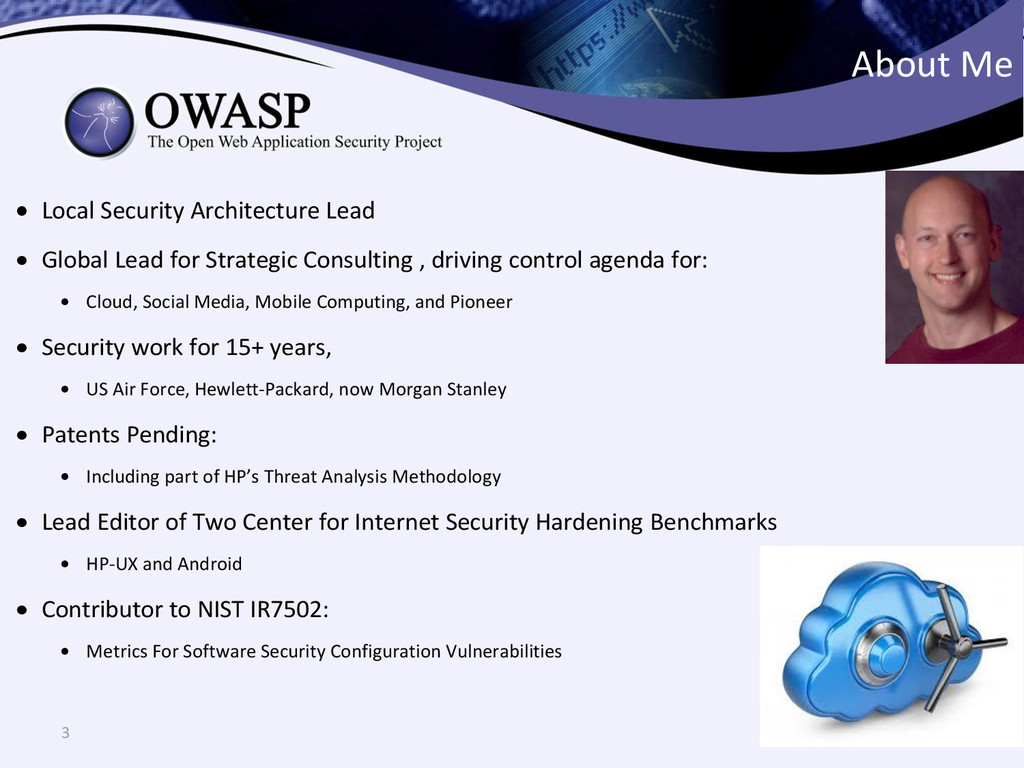 3 About Me  Local Security Architecture Lead ...