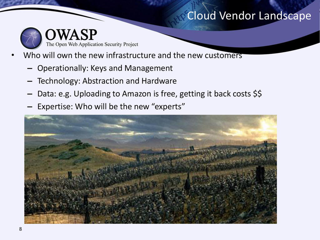 Cloud Vendor Landscape • Who will own the new i...