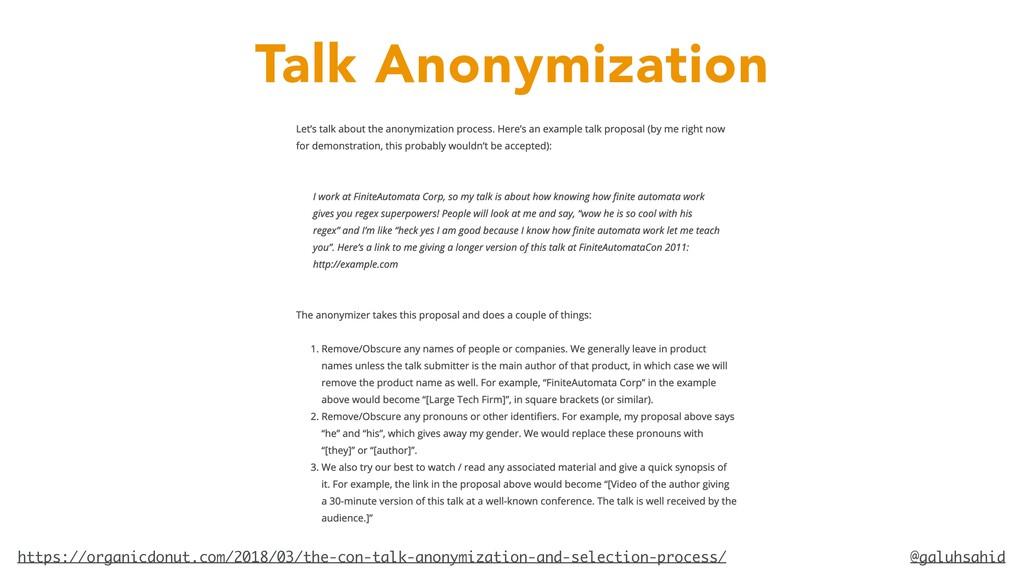 @galuhsahid Talk Anonymization https://organicd...