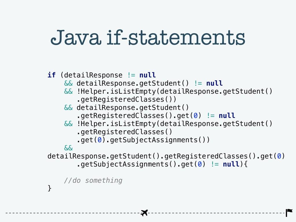 Java if-statements if (detailResponse != null &...