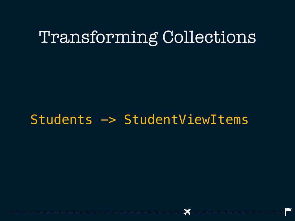 Transforming Collections Students -> StudentVie...