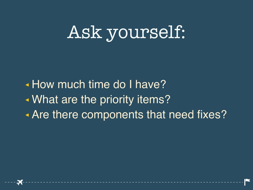 ◂ How much time do I have? ◂ What are the prior...