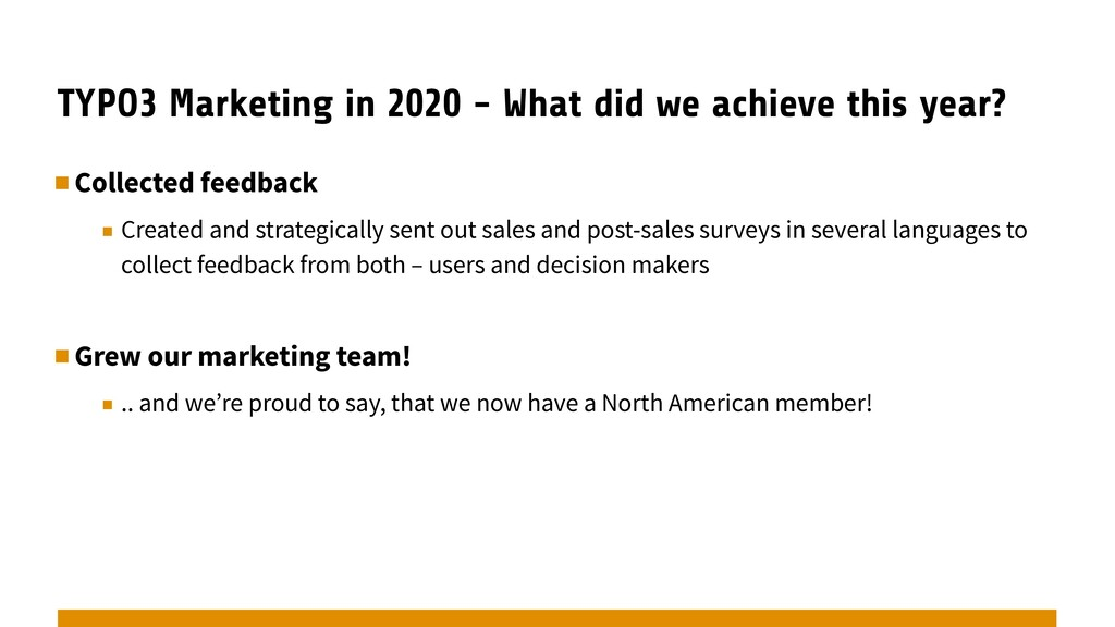 TYPO3 Marketing in 2020 - What did we achieve t...