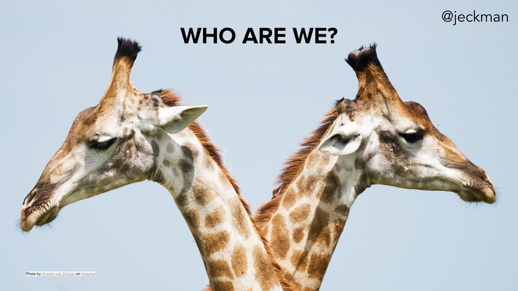 WHO ARE WE? Photo by Vincent van Zalinge on Uns...